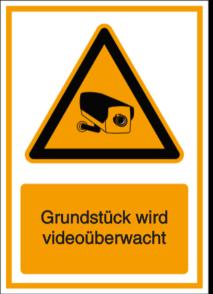 Grundstück wird videoüberwacht