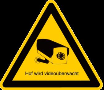 Hof wird videoüberwacht