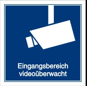 Eingangsbereich videoüberwacht