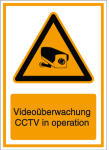 Videoüberwachung - CCTV in operation (DE/ENG)