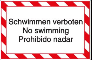 Schwimmen verboten - No swimming - Prohibido nadar