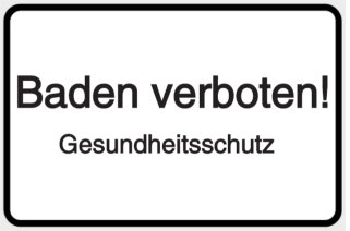 Baden verboten! Gesundheitsschutz