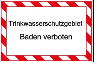 Trinkwasserschutzgebiet - Baden verboten