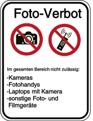 Foto-Verbot