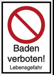 Baden verboten! Lebensgefahr