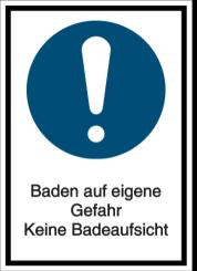 Baden auf eigene Gefahr - Keine Badeaufsicht