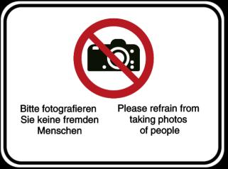 Bitte fotografieren Sie keine fremden Menschen