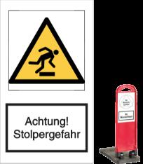 Achtung! Stolpergefahr
