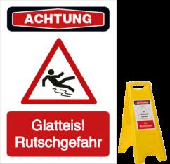 Glatteis! Rutschgefahr