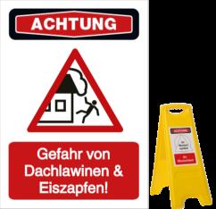 Gefahr von Dachlawinen & Eiszapfen!
