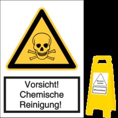 Vorsicht! Chemische Reinigung!