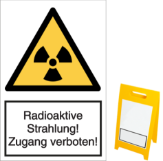 Radioaktive Strahlung! Zugang verboten!