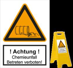 Chemieunfall - Betreten verboten!